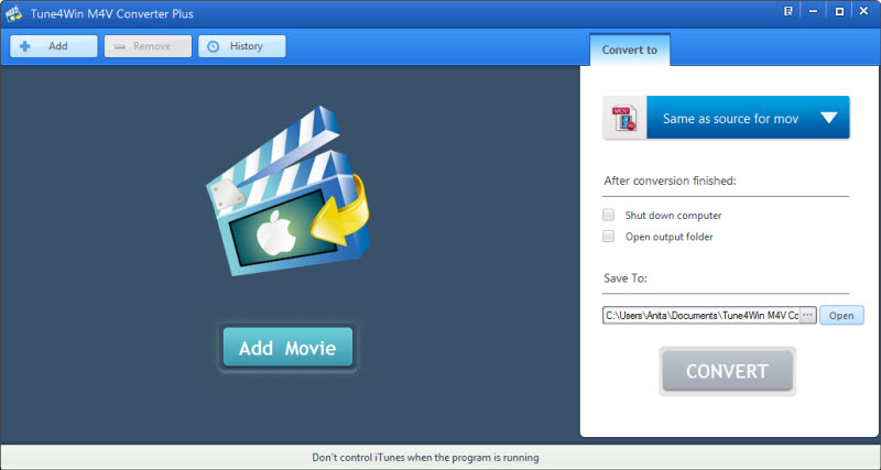 Click to view Tune4win M4V Converter Plus screenshots